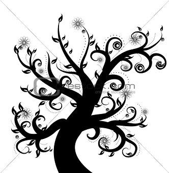 Black Stylized Tree