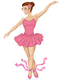 vector illustration of beautiful ballerina