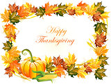 Vector illustration of thanksgiving day background