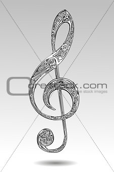 Abstract violin key