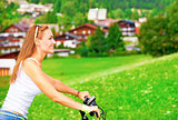 Bicycle tour in Alpine mountains