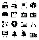 Web, internet vector black icons set