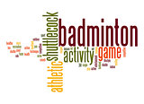 Badminton word cloud
