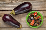 roasted spicy eggplant salad