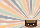 retro radio background