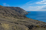Mountainous desert shore. Crimea.