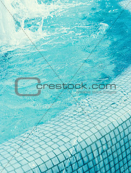 fragment  swimming pool with blue water