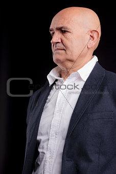 old bald businessman