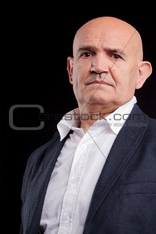 old bald businessman