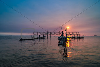 Old dock sunrise