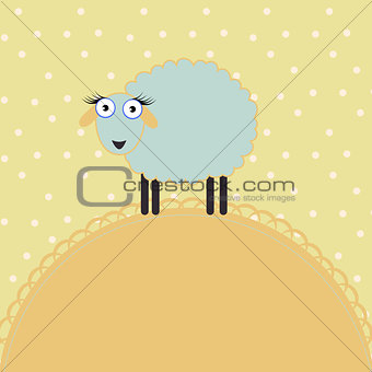 Baby template in a pastel color