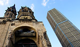 Ruins of Kaiser Wilhelm Memorial Church in Berlin