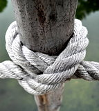 The knot of the rope
