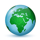 World Globe Map - Africa & Europe