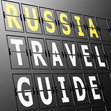 Airport display Russia travel guide