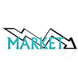Market down arrow