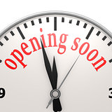 Opening soon clock