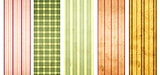 Set of grunge banners with striped pattern and paper texture