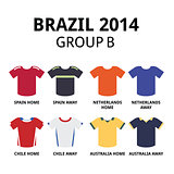 World Cup Brazil 2014 - group B teams football jerseys