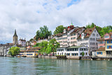 Zurich. River Limmat embankment