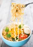 Instant noodles soup