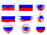 Russian Federation Flag Set
