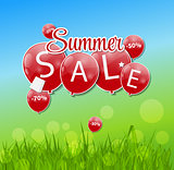 Summer Sale Concept. Vector Illustration.