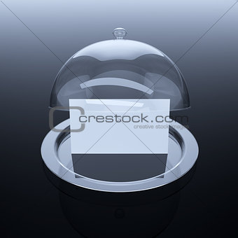 cloche with paper template