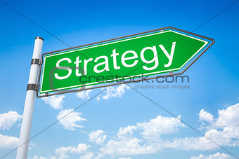 road sign arrow strategy