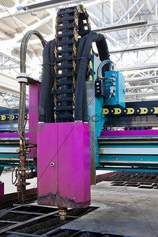 powerful metalworking machine