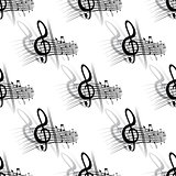 Seamless background music pattern