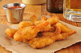 Breaded butterfly shrimp