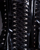 Close-up shot of professional waist training corset