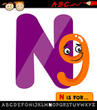 letter n with nine cartoon illustration