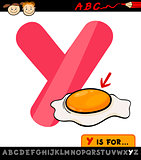 letter y with yolk cartoon illustration