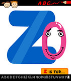 letter z with zero cartoon illustration
