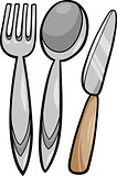 utensils cartoon illustration