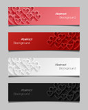 Set of abstract valentine banners