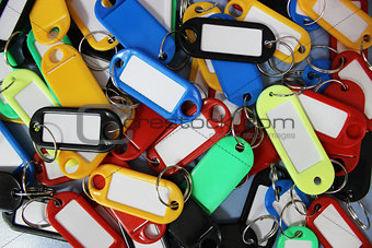 Background of colored labels for keys