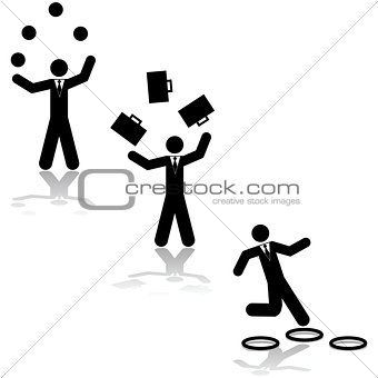 Business juggling