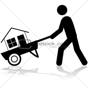 Carrying a house