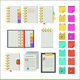 Flat icons for notebooks