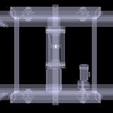 Electric hoist. X-ray render