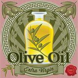 set of elements for design olive oil