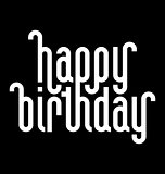 HAPPY BIRTHDAY lettering (vector)