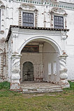 Stone porch of ancient church