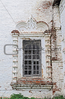 Old window in ancient church
