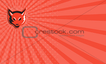 Business Card Red Fox Head Front