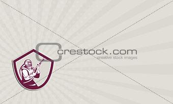 Business Card Sandblaster Hose Shield Side Retro