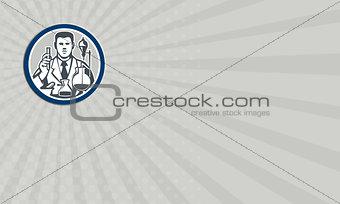 Business Card Scientist Lab Researcher Chemist Retro Circle